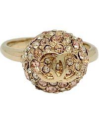 Chanel Anello in metallo dorato CC - Metallizzato