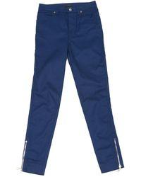 Louis Vuitton - Blue Cotton - Elasthane Jeans - Lyst