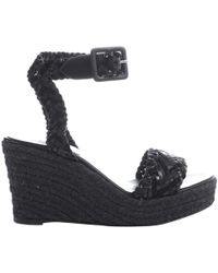 4702bbfc14e7 Lyst - Hermès HermãˆS Wedge Sandals in Brown