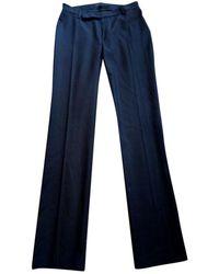 Maje Black Wool Trousers - Blue