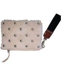 Carven Tweed Clutch Bag - Pink
