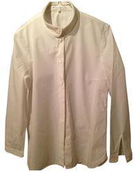 Carven Top en Coton Blanc - Multicolore