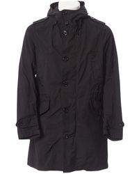 Moncler Black Polyester Coat
