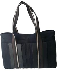 a7e8ce893 Hermès - Herline Black Cotton Handbag - Lyst