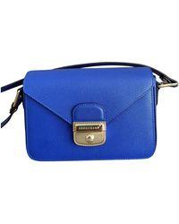 Longchamp Bandolera Pliage de Cuero - Azul