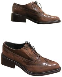 Mulberry Brown Leather Lace Ups