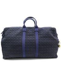 Dior Cloth Travel Bag - Blue