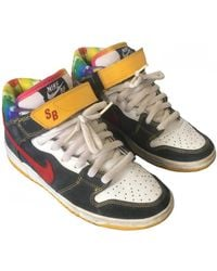 Nike Sb Dunk Leather High Sneakers - Multicolor
