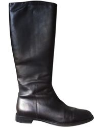 Ferragamo Leather Western Boots - Brown