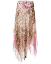 Etro - Silk Maxi Skirt - Lyst