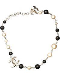Chanel CC Perlen Colliers - Schwarz