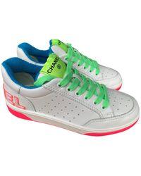 Chanel Leder Sneakers - Weiß