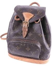 Louis Vuitton - Pre-owned Montsouris Cloth Backpack - Lyst