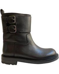 Loewe Leather Boots - Black