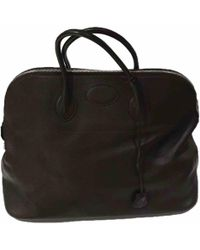 Hermès - Pre-owned Bolide Brown Leather Travel Bags - Lyst