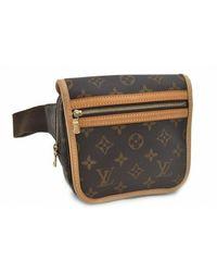 Louis Vuitton - Brown Cloth Handbag - Lyst