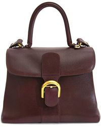 Delvaux - Le Brillant Burgundy Leather Handbag - Lyst