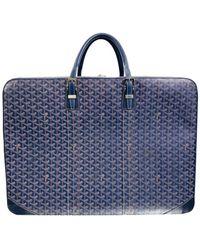 Goyard Cloth Travel Bag - Blue