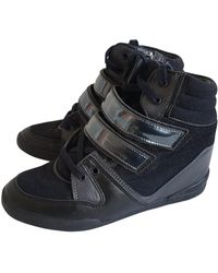 The Kooples Blue Leather Sneakers - Multicolor
