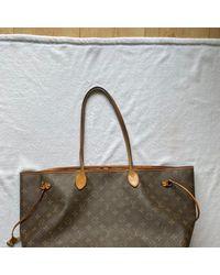 Louis Vuitton Bolsa de mano en lona beige Neverfull - Neutro