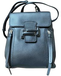Tod's Black Leather Backpacks