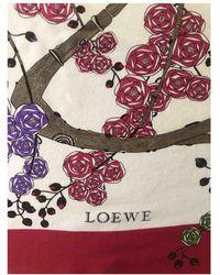 Loewe Seide Halstuch - Mehrfarbig