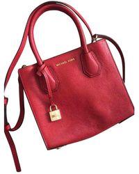 Michael Kors Mercer Leder Handtaschen - Rot