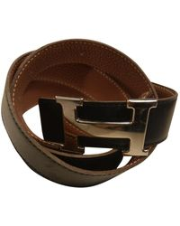 Hermès H Leather Belt - Black