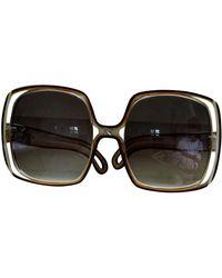 Nina Ricci Brown Plastic Sunglasses