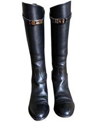 Hermès Jumping Black Leather Boots
