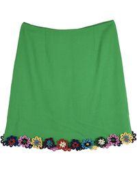 Mary Katrantzou Wool Mini Skirt - Green