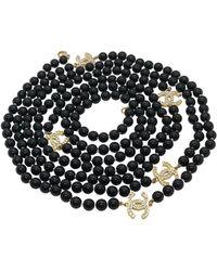 Chanel Sautoirs en Perles Noir