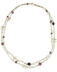 Chanel - Pre-owned Purple Pearls Necklaces - Lyst