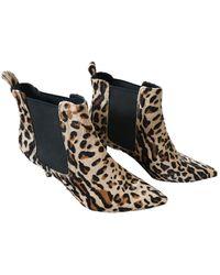 Anine Bing Boots en Cuir Marron - Multicolore
