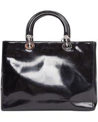 Dior Borsa a mano in vernice nero Lady