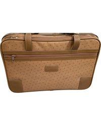 Lancel Beige Leather Travel Bag - Natural