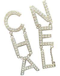 Chanel Boucles d'oreilles en Plaqué or Doré - Multicolore