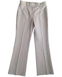 Michael Kors Beige Cotton Pants - Natural