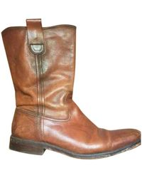 Zadig & Voltaire Leather Cowboy Boots - Brown
