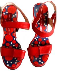 Marc Jacobs Leather Heels - Red