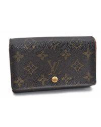 Louis Vuitton Brown Cloth Wallet