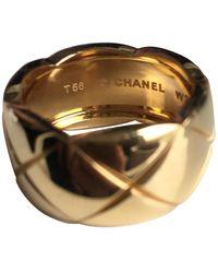 Chanel Coco Crush Gelbgold Ringe - Mettallic