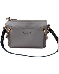 Chloé Roy Leather Handbag - Grey
