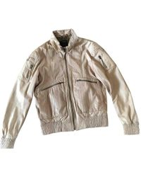 Roberto Cavalli - Pre-owned Beige Leather Jackets - Lyst