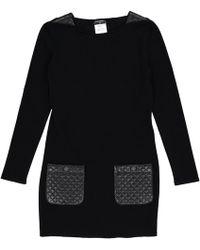 Chanel - Wolle Mini Kleid - Lyst