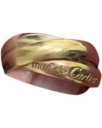 Cartier Trinity Yellow Gold Ring - Red