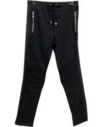 Balmain Pantalons en Coton Noir