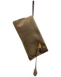 Tom Ford Alix Leather Clutch Bag - Natural
