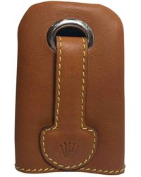 Rolex Leather Key Ring - Brown