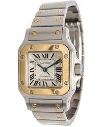 Cartier Santos Galbée Silver Gold And Steel Watch - Metallic